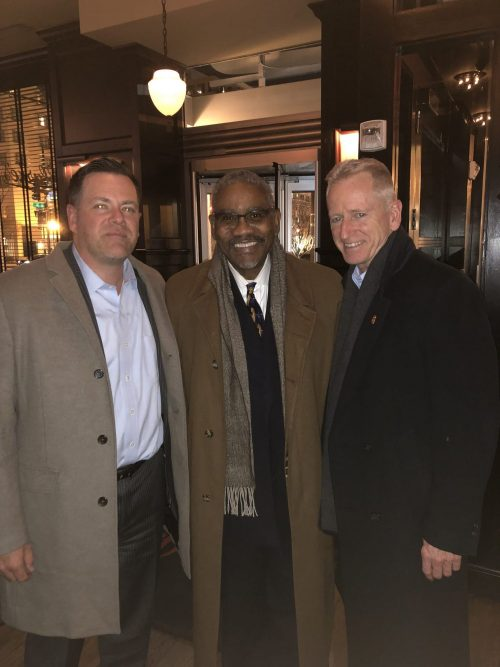 Sean Riordan meets with Congressman Gregory Meeks and FDNY Ret. Chief Richard Alles to discuss the crucial issues our nation's first responders face daily.