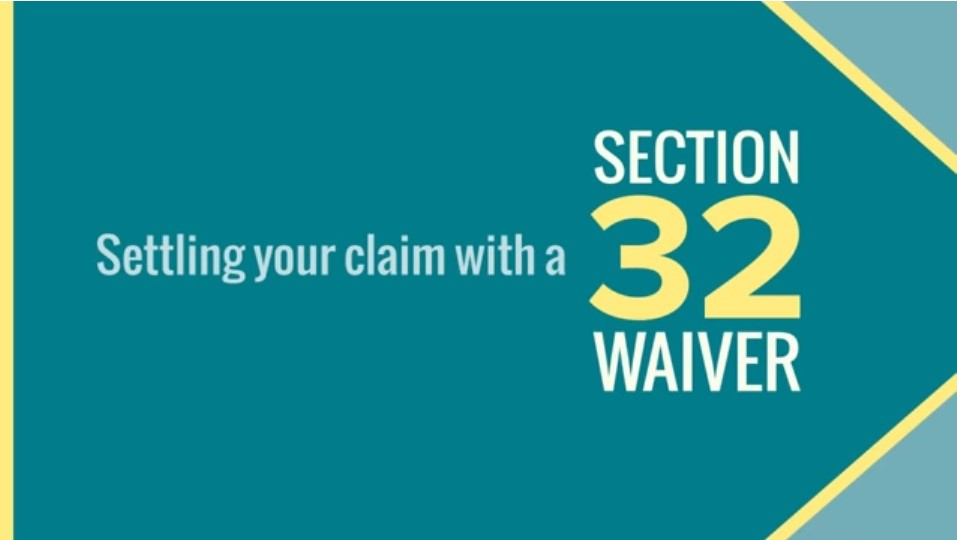 Section 32 Waiver Agreement - MDASR, LLP | Workers ...